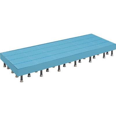 TRUSCO 樹脂ステップ高さ調節式側板付600X900 H200-220(1組) DS6090HG 4163648