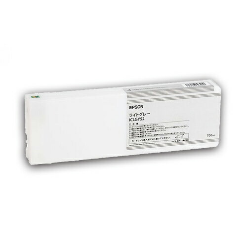 EPSON(エプソン):PX-P/K3(VM)インクカートリッジ ライトグレー 700ml ICLGY52 1個 2222301