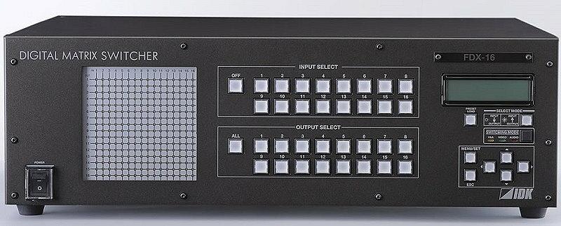 IDK デジタルマルチスイッチャ FDX-16 HDCP対応のHDMI / DVI用デジタルマトリクススイッチャ