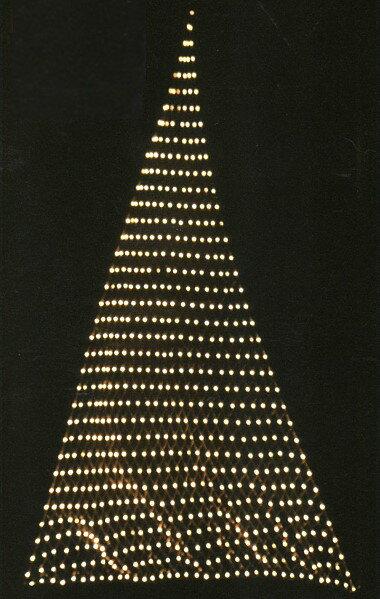 ★クリスマスイルミネーション★LEDスリーポイントネットライト ゴールド 壁や天井に張ったり、木に巻きつけたり様々な使い方が可能