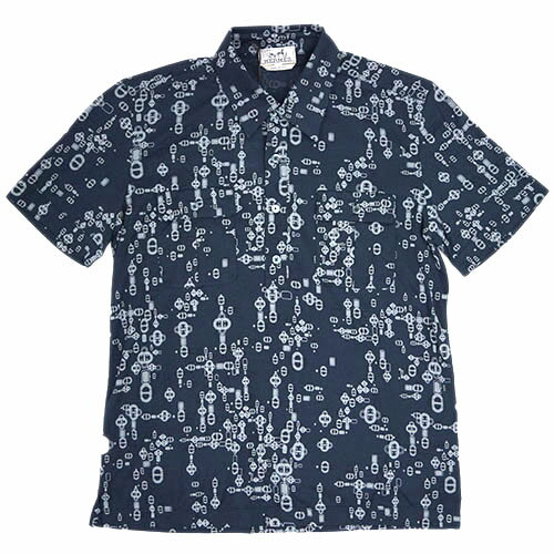 エルメス ソルド H537530HA63 メンズ ポロシャツ 半袖 プリント アルドワーズ【あす楽対応】【YDKG-tk】 楽天カード分割