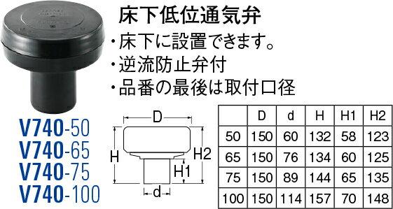 最大500円クーポン配布中★送料無料 SANEI(三栄水栓製作所) 床下低位通気弁 V740-100