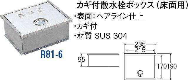 最大500円クーポン配布中�送料無料 SANEI(三栄水栓製作所) カギ�散水栓ボックス R81-6
