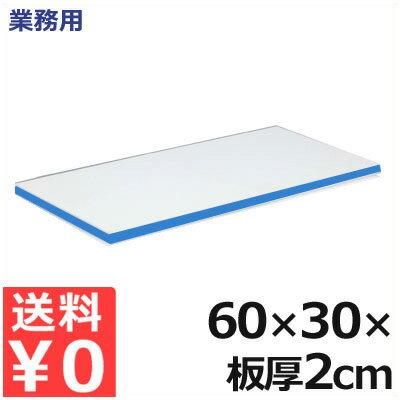 【送料無料】業務用 軽量抗菌スーパー耐熱まな板 60×30×厚さ2cm 20SKL 青/熱風消毒対応まな板 接着剤フリーまな板 衛生的な業務用まな板