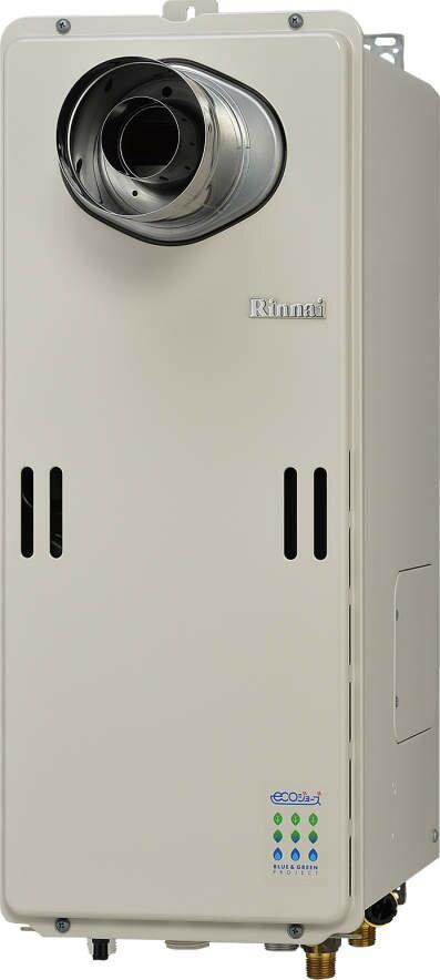 【最安値挑戦中!最大27倍】ガス給湯器 リンナイ RUF-SE1610AT-L 設置フリータイプ エコジョーズ ユッコUF 16号 フルオート (PS扉内/PS延長前排気)設置型 15A [≦]