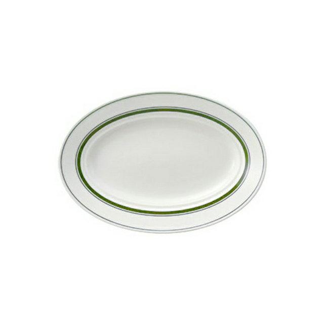 【送料無料】コーヨー カントリーサイド 26.5cmプラター モスグリーン 6枚セット (344248-6P) [洋食器][業務用 食器]