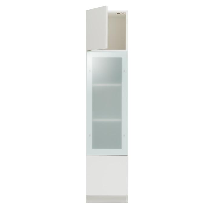 ガラスウォールラック・ガラス扉キャビネット[グラナー] 幅40cm = 全14色から選べます![国産・完成家具]【smtb-F】