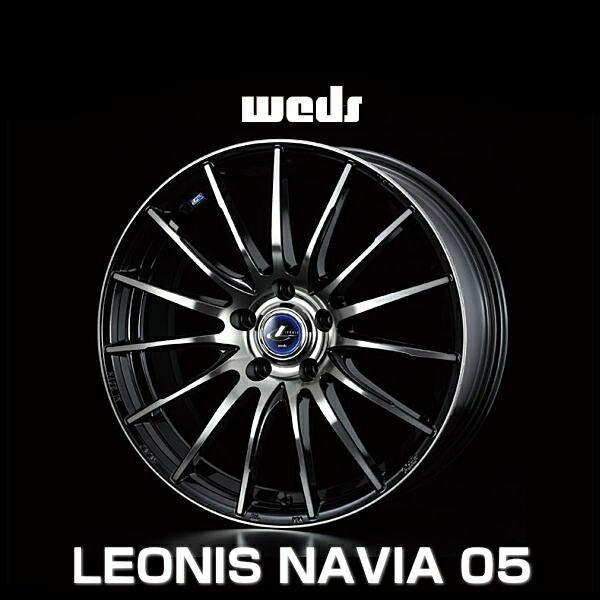 weds ウェッズ レオニス ナヴィア 05 36252 15インチ 15×6.0J インセット:45 穴数:5 PCD:100 ハブ径:73 カラー:BPB【ホイール4本価格】