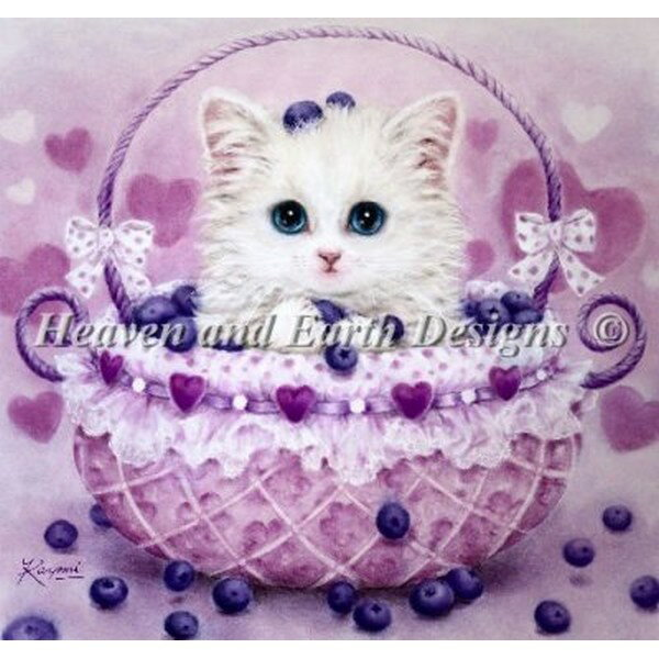 クロスステッチ刺繍キット Heaven And Earth Designs(HAED) - Kayomi Harai - Blueberry Basket