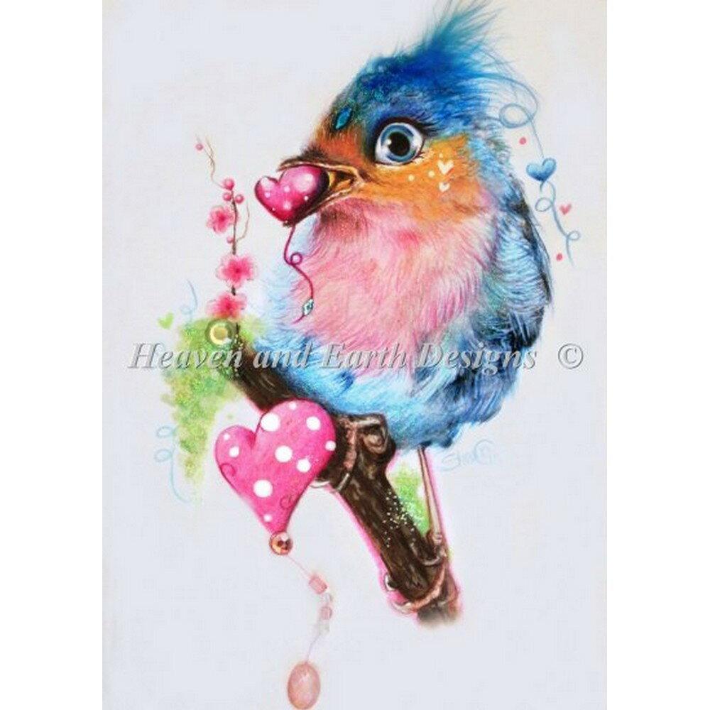 クロスステッチ刺繍キット クロスステッチキット 海外 Heaven And Earth Designs(HAED) - Love Bird