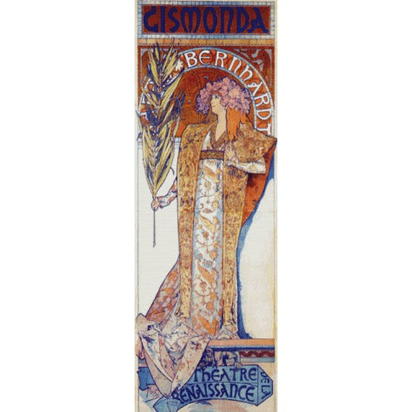 Cross Stitch Collectibles - Mucha(ミュシャ) - Gismonda 14ct クロスステッチキット