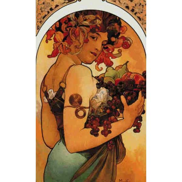 Cross Stitch Collectibles - ミュシャ(Mucha) -Fruit 1897 果物 18ct クロスステッチキット