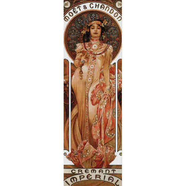 Cross Stitch Collectibles - ミュシャ(Mucha) -Moet & Chandon 1899 18ct クロスステッチキット
