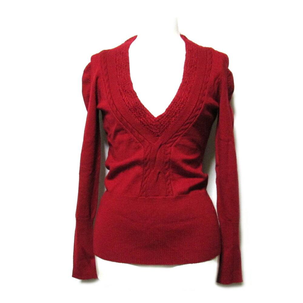 [SALE] Vivienne Westwood RED LABEL ヴィヴィアンウエストウッド レッドレーベル 「1」 Vネックニットセーター 091824 【中古】