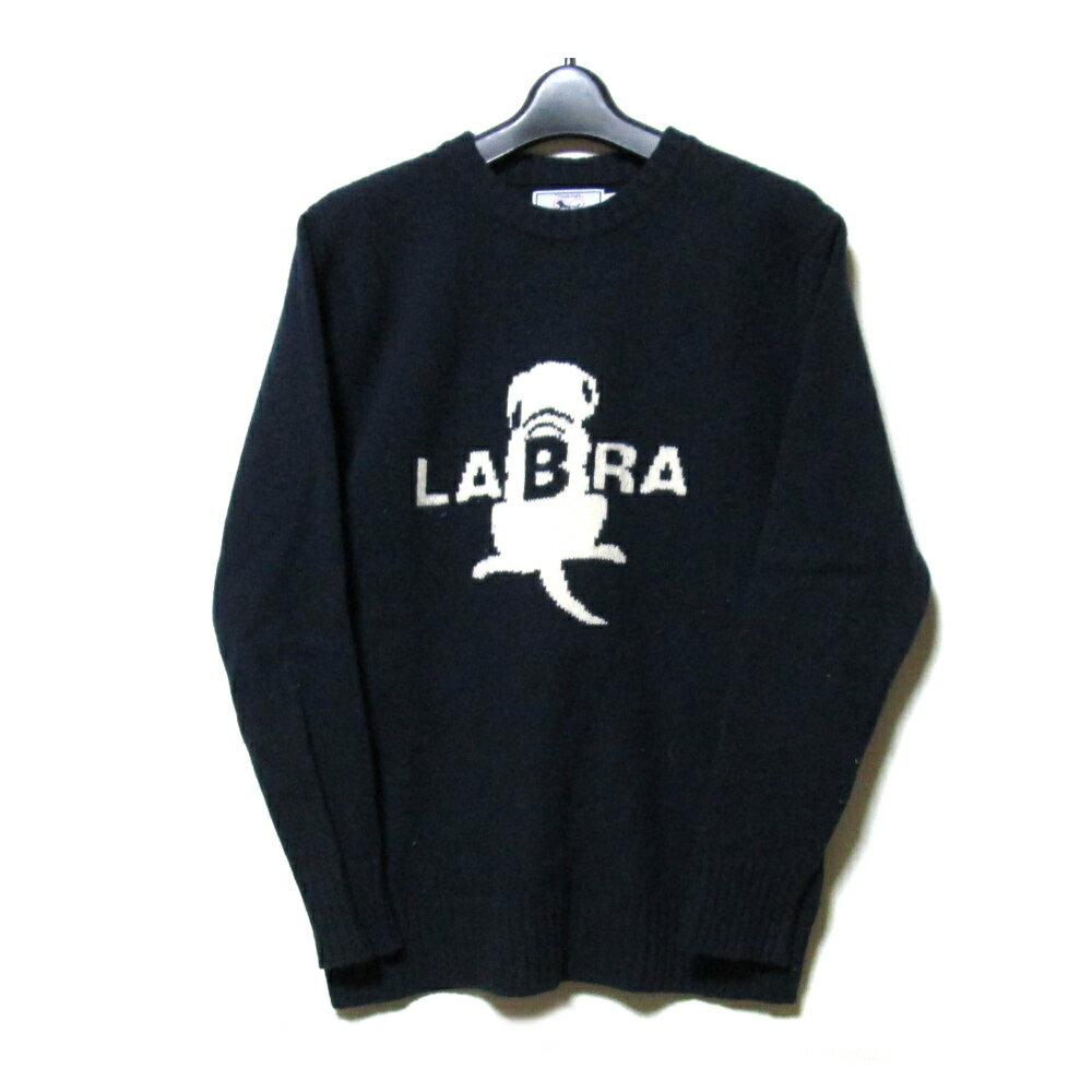 Labrador Retriever ラブラドールレトリーバー 「M」 ローゲージニットセーター (紺) 102492 【中古】