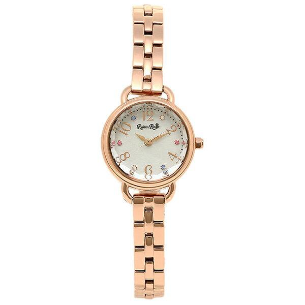 【期間限定ポイント10倍】ルビンローザ Rubin Rosa 時計 腕時計 ルビンローザ 時計 レディース Rubin Rosa R019SOLPWH ソーラー 腕時計 ウォッチ ゴールド/ホワイトシェル