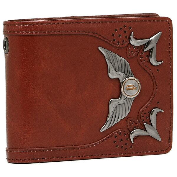 素晴らしいアウトレット ポリス 財布 POLICE PLC103 2つ折り財布 BROWN