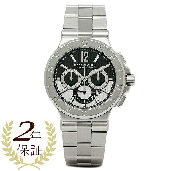 今季新作 【期間限定ポイント10倍】ブルガリ 時計 メンズ BVLGARI DG42BSSDCH ディアゴノ カリブ303 クロノグラフ 腕時計 ウォッチ ブラック/シルバー