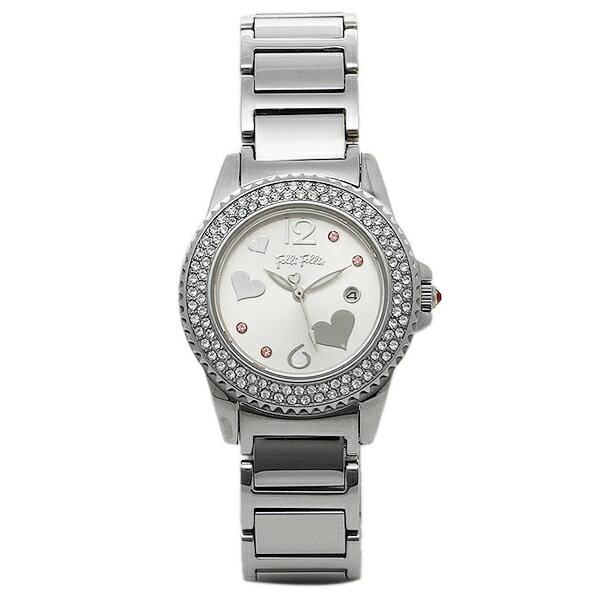 【期間限定ポイント10倍】フォリフォリ FOLLI FOLLIE 時計 腕時計 FOLLI FOLLIE フォリフォリ WF9A049BTS シルバー レディースウォッチ/腕時計