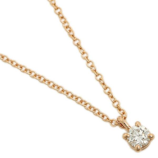 ティファニー ネックレス アクセサリー レディース TIFFANY&Co. 30420837 18K ソリティア ダイヤモンド ペンダント ピンクゴールド