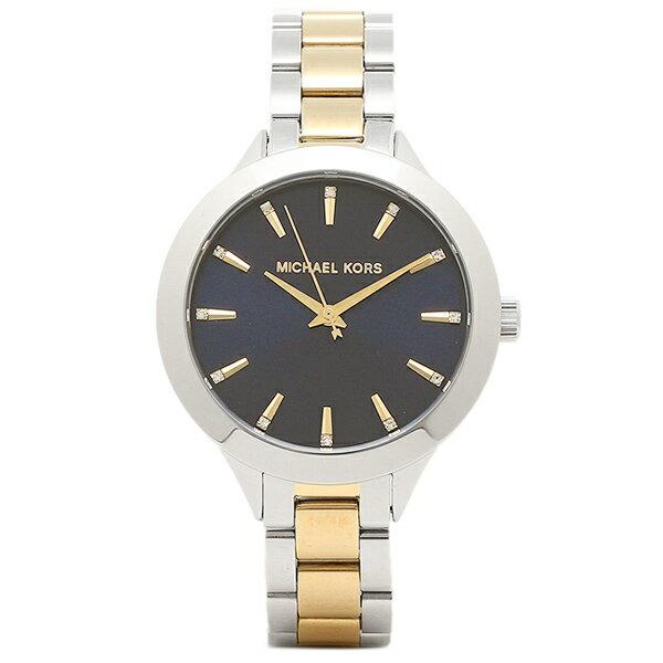 【期間限定ポイント10倍】マイケルコース 腕時計 アウトレット MICHAEL KORS MK3528 ゴールド シルバー ネイビー