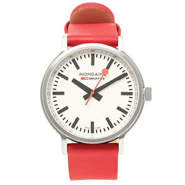 【期間限定ポイント10倍】モンディーン 置時計 MONDAINE A512 30358 16SBC ホワイト レッド