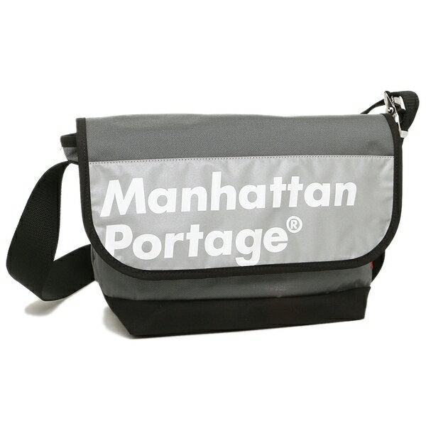 マンハッタンポーテージ ショルダーバッグ MANHATTAN PORTAGE 1606VJRREFL GREY/BLACK グレー ホワイト ブラック