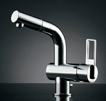 184-021 カクダイ JIS規格 シングルレバー引出し混合栓(排水上部セットつき) KAKUDAI 02P09Jul16