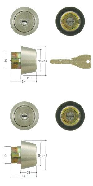 2個同一セットMIWA(美和ロック) PRシリンダー BHタイプ TMCY-223BH LD DZ 02P09Jul16