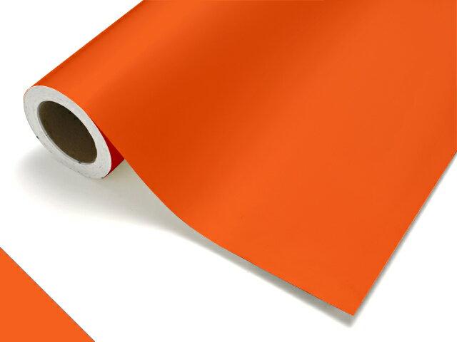 【タフカル 不透明タイプ】4223W フレイムオレンジ(糊面白) F寸/1010mm幅×20m(ロール)