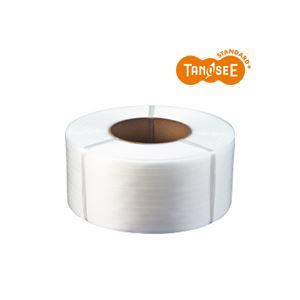 【ポイント10倍】(まとめ)TANOSEE PPバンド 自動梱包機用 半透明 15mm×2500m 4巻