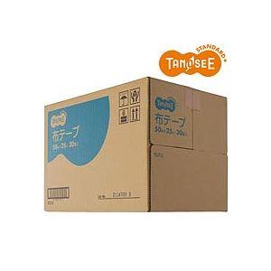 【ポイント10倍】(まとめ)TANOSEE 布粘着テープ 重梱包用 50mm×25m 30巻