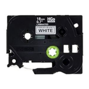 【ポイント10倍】ブラザー工業(BROTHER) ハイグレードテープHGe-241V白に黒18mm5個