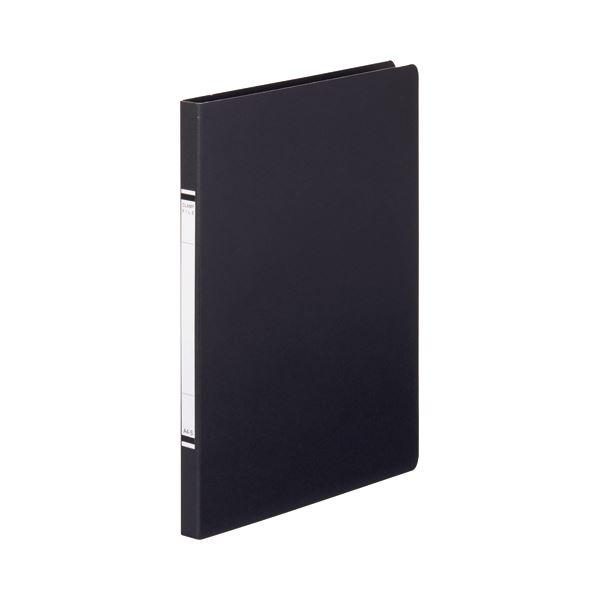 【ポイント10倍】(まとめ) TANOSEE クランプファイル(紙表紙) A4タテ 100枚収容 背幅18mm 黒 1セット(10冊) 【×5セット】