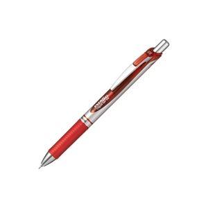 【ポイント10倍】(業務用30セット) ぺんてる ボールペン エナージェル 【0.5mm/赤 10本入り】 速乾 ノック式 ゲルインク BLN75Z-B ×30セット