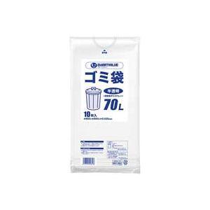 ��イント10�】(業務用100セット) ジョインテックス ゴミ袋 LDD��明 70L 10枚 N209J-70