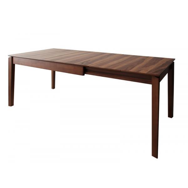【ポイント10倍】【単品】ダイニングテーブル(W120-180)【Bolta】天然木ウォールナット材 伸縮式ダイニング【Bolta】ボルタ