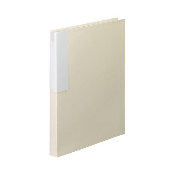 【ポイント10倍】(まとめ) TANOSEE クリヤーブック(クリアブック) A4タテ 36ポケット 背幅24mm オフホワイト 1セット(10冊) 【×5セット】
