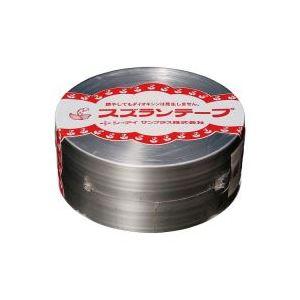 【ポイント10倍】(業務用100セット) CIサンプラス スズランテープ/荷造りひも 【銀/470m】 24203102