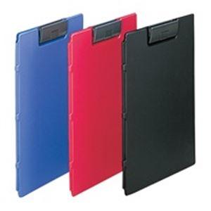 【ポイント10倍】(業務用5セット) LIHITLAB クリップファイル F-2650-24 A4E 黒 10冊
