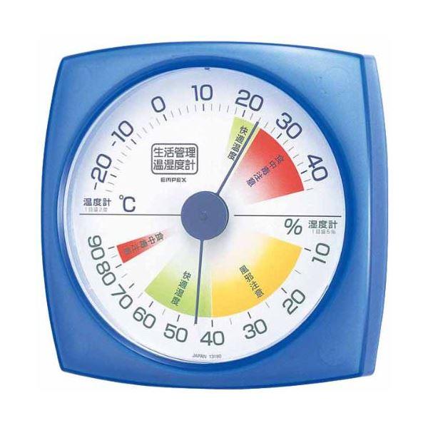 ��イント10�】(���)EMPEX 生活管� 温度・湿度計 �掛用 TM-2436 クリアブルー�×5セット】