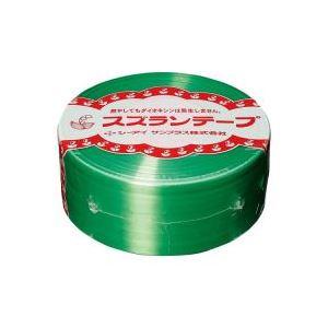 【ポイント10倍】(業務用100セット) CIサンプラス スズランテープ/荷造りひも 【緑/470m】 24202012