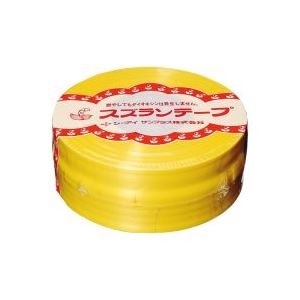 【ポイント10倍】(業務用100セット) CIサンプラス スズランテープ/荷造りひも 【黄/470m】 24202011