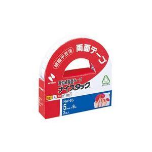 【ポイント10倍】(業務用200セット) ニチバン 両面テープ ナイスタック 【幅5mm×長さ9m】 2巻 NW-5S ×200セット
