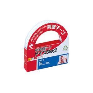 【ポイント10倍】(業務用100セット) ニチバン 両面テープ ナイスタック 【幅15mm×長さ20m】 NW-15