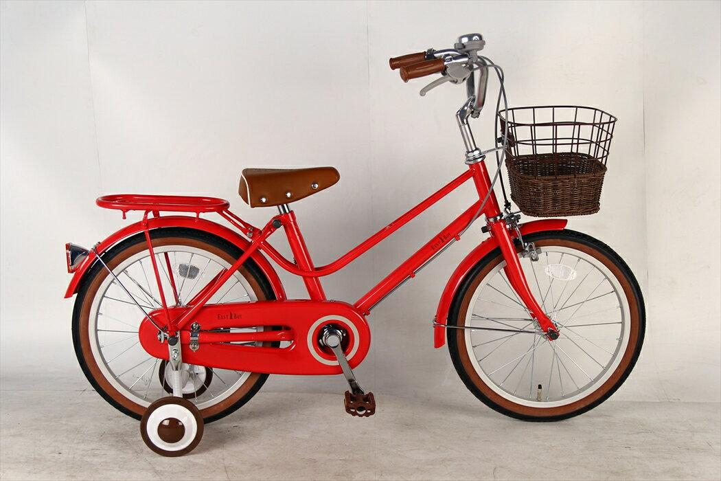 送付先関東限定 送料無料 EASTBOY イーストボーイ 自転車 シティサイクル(レッド)<大人かわいい>キッズ 【18インチ  送料無料 イーストボーイ 自転車 クリスマス
