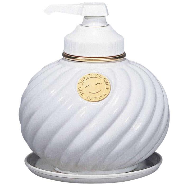 【最大1,200円オフクーポン!】サラヤ ウォシュボン陶器製容器 MD-1 ポンプ付 ホワイト 1L×6本
