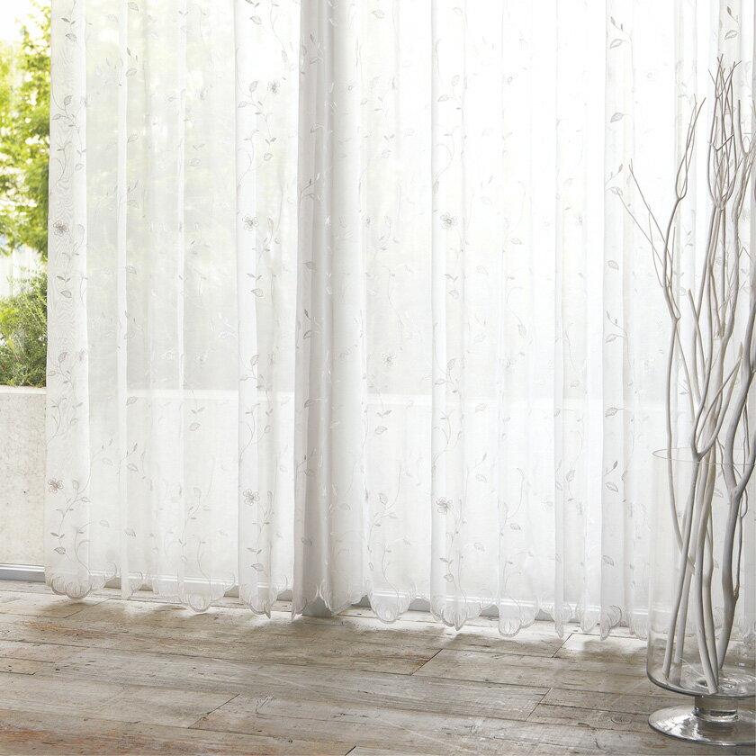 ��料無料】オーダーカーテン▼ヨコ使�レース ソフトウェーブ縫製 1.5�ヒダ・2�山・両開� 裾刺�▼�島織物セルコン !'mシリーズ  ME2418I'm アイム