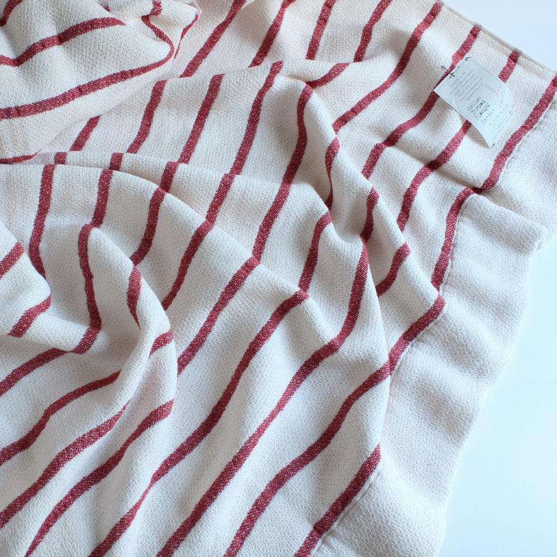 今治タオル コンテックス スロー&ブランケットImabari Towel Kontex  Throw & Blanketボーダー レッド
