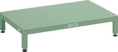 トラスコ中山 【代引不可】【直送】 高床用縞鋼板ステップ 600X600XH190~220 UFSH-0660S [A130110]